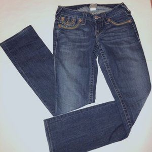 True Religion Brand Jeans Straight Blue Women s 24